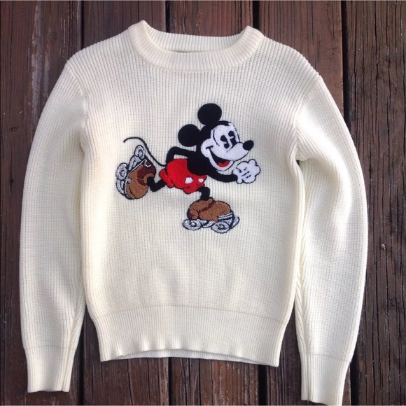 62bbc11fe93 Disney Sweaters - Vintage Mickey Mouse Roller Skates Sweater Disney